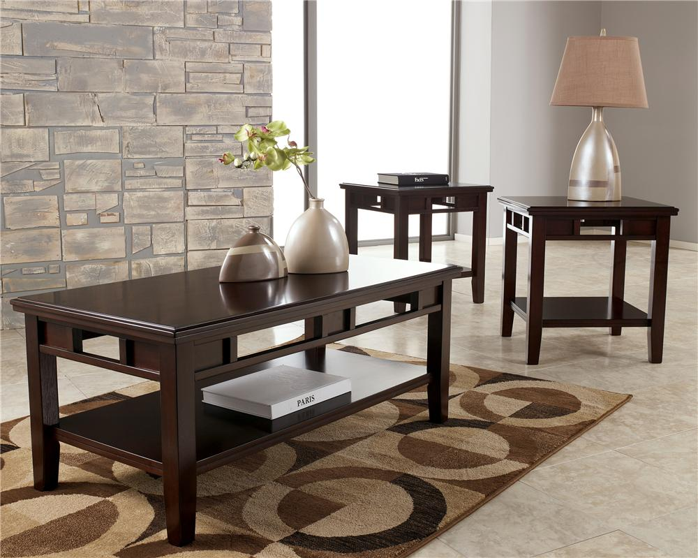 Signature Design by Ashley Logan 3-in-1 Occasional Table Set - Item Number: T160-13