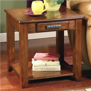 Signature Design by Ashley Furniture Lucca Rectangular End Table