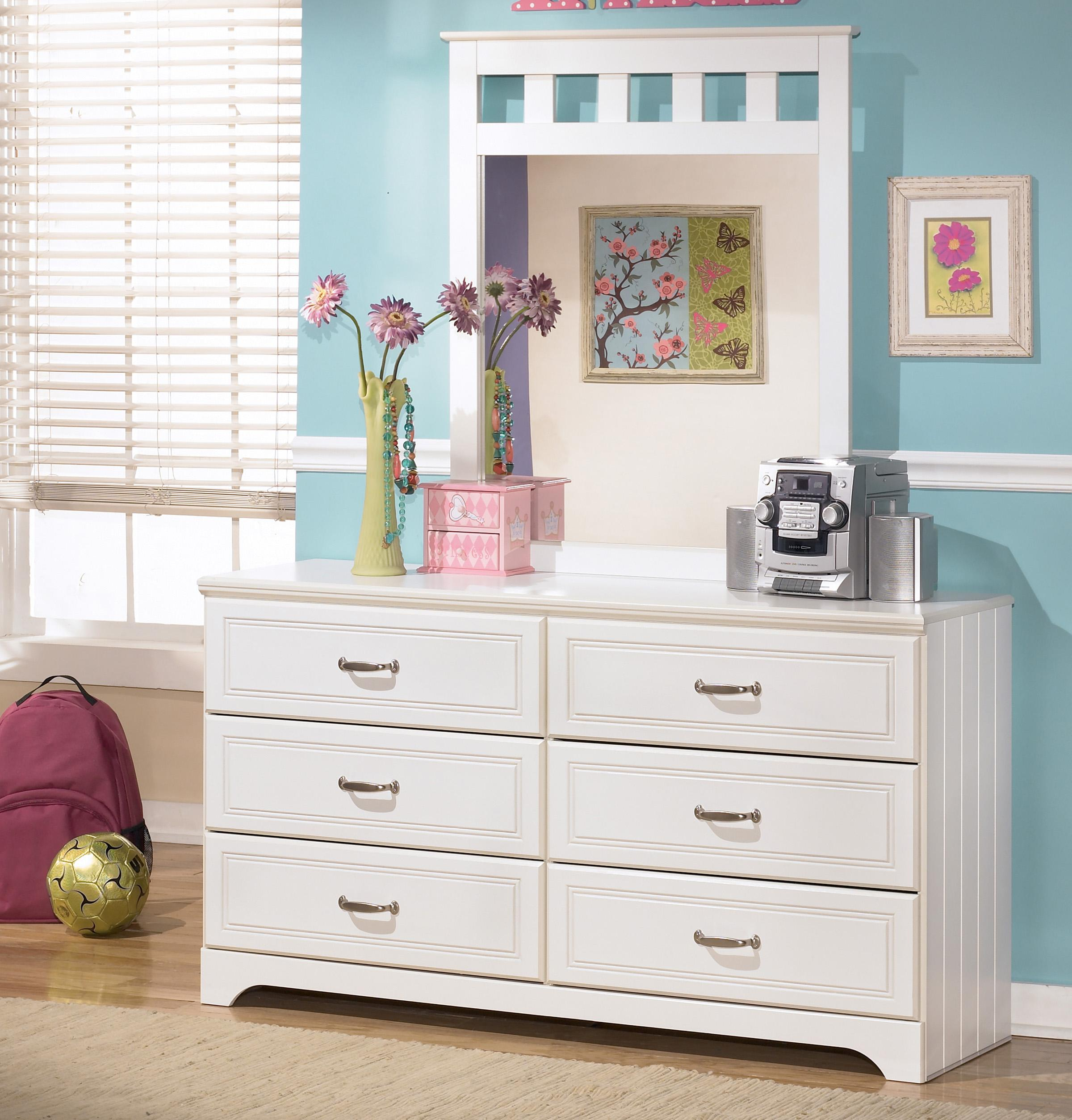 Signature Design by Ashley Lulu Dresser and Mirror Combo - Item Number: B102-21+26