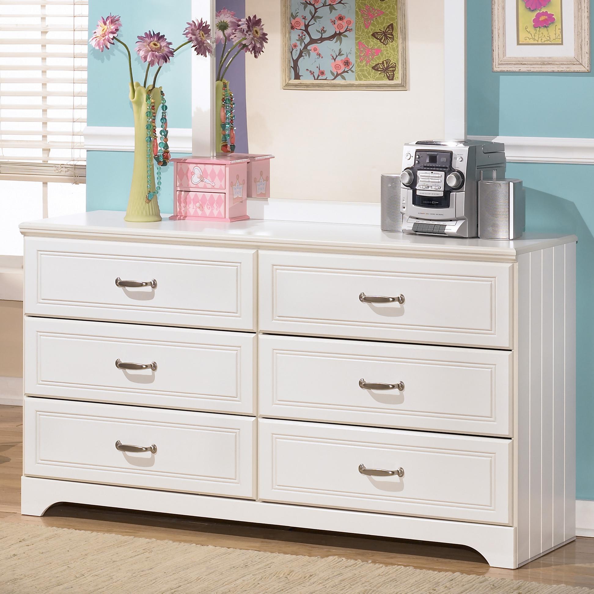 Signature Design By Ashley Lulu B102 21 6 Drawer Dresser Becker Furniture World Dressers