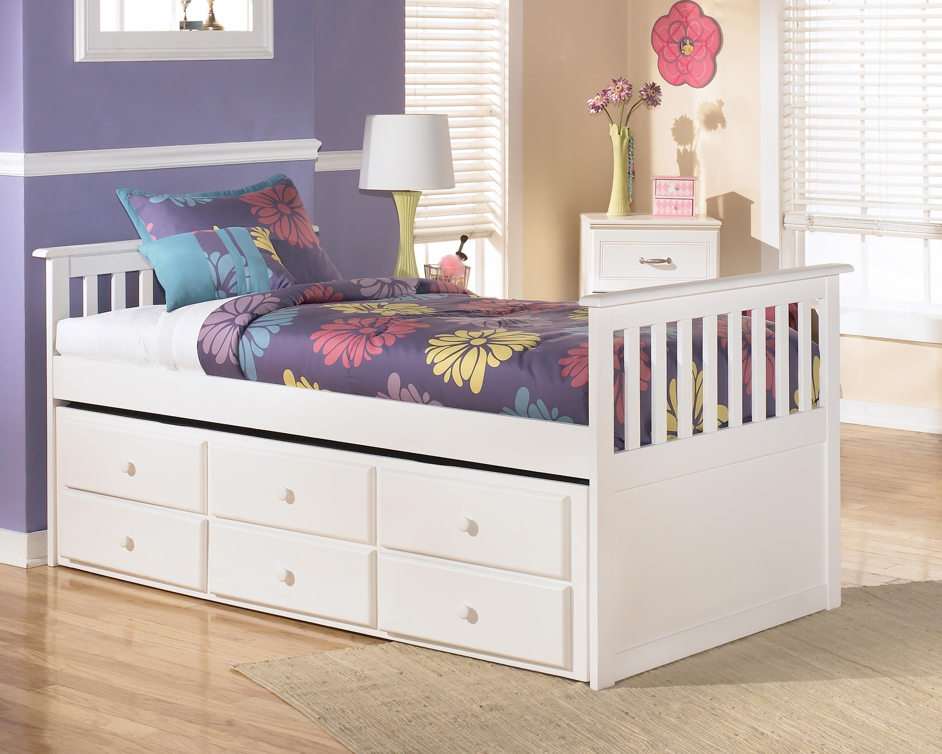 Signature Design by Ashley Lulu Twin Bed with Trundle - Item Number: B102-53+50T+50D+83