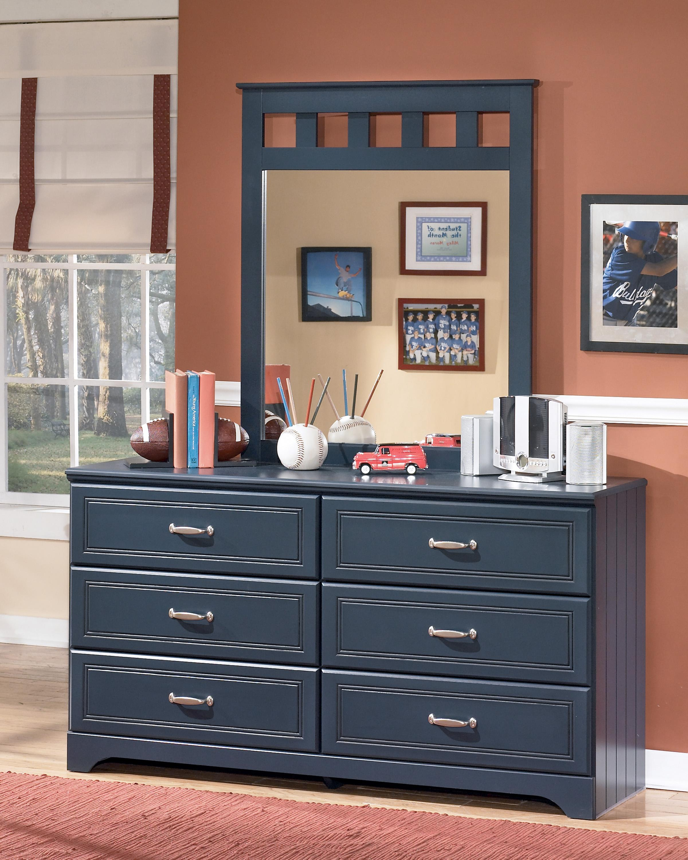 Signature Design by Ashley Leo Dresser and Mirror Combo - Item Number: B103-21+26