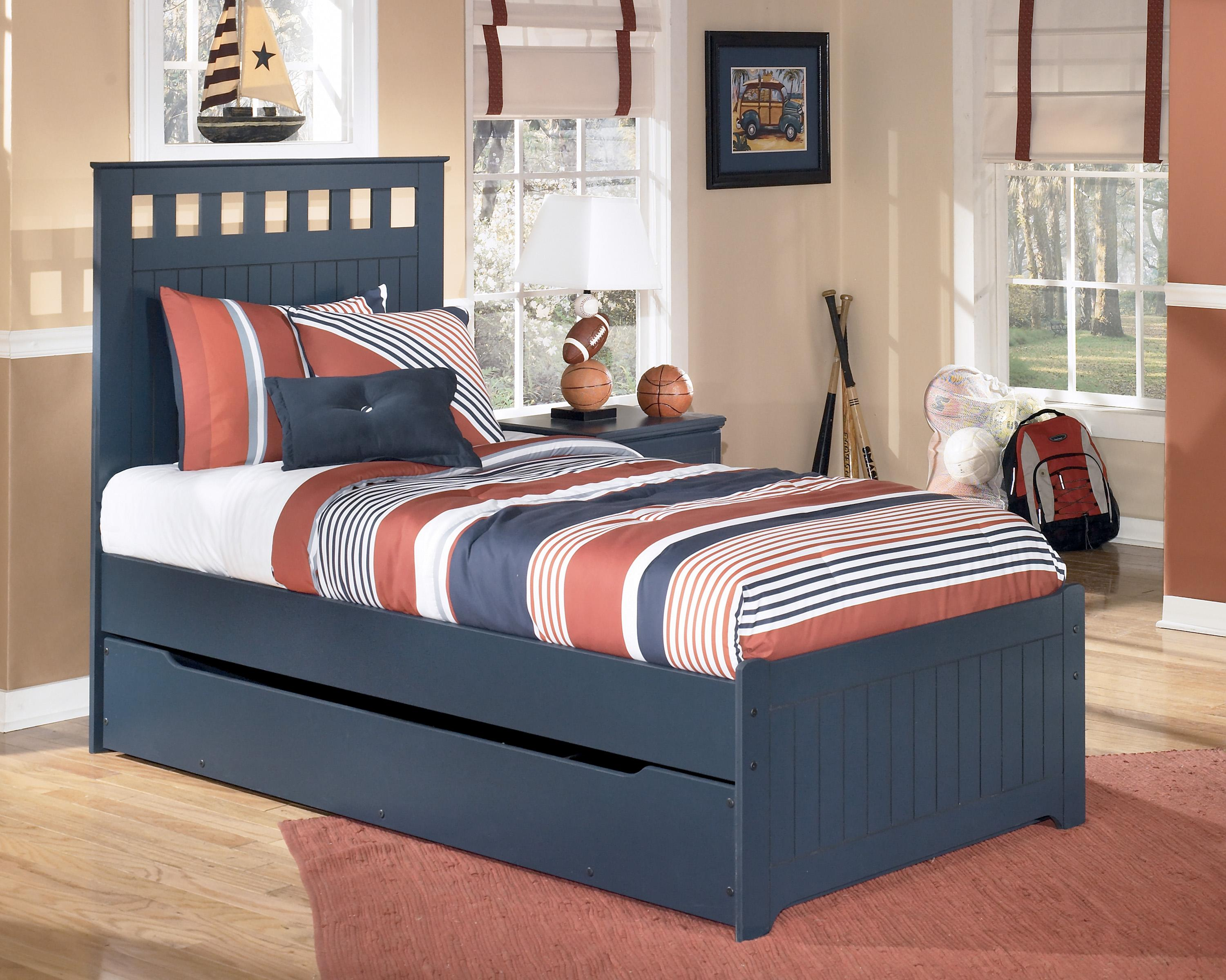 Signature Design by Ashley Leo Twin Bed with Storage/Trundle - Item Number: B103-52+51+60+82