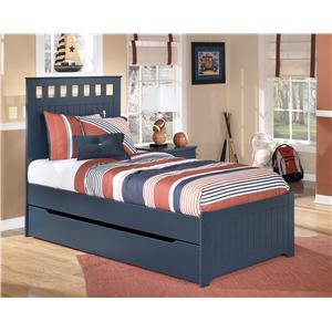 Signature Design by Ashley Furniture Leo Twin Bed with Storage/Trundle