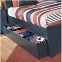 Signature Design by Ashley Leo Twin Bed with Storage/Trundle - Storage Drawers Shown