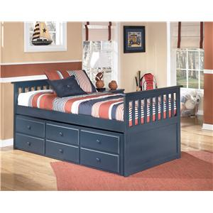Signature Design by Ashley Leo Twin Bed with Trundle