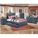 Signature Design by Ashley Leo Full Bed with Storage/Trundle - Shown with Night Stand, Chest, Dresser, and Mirror