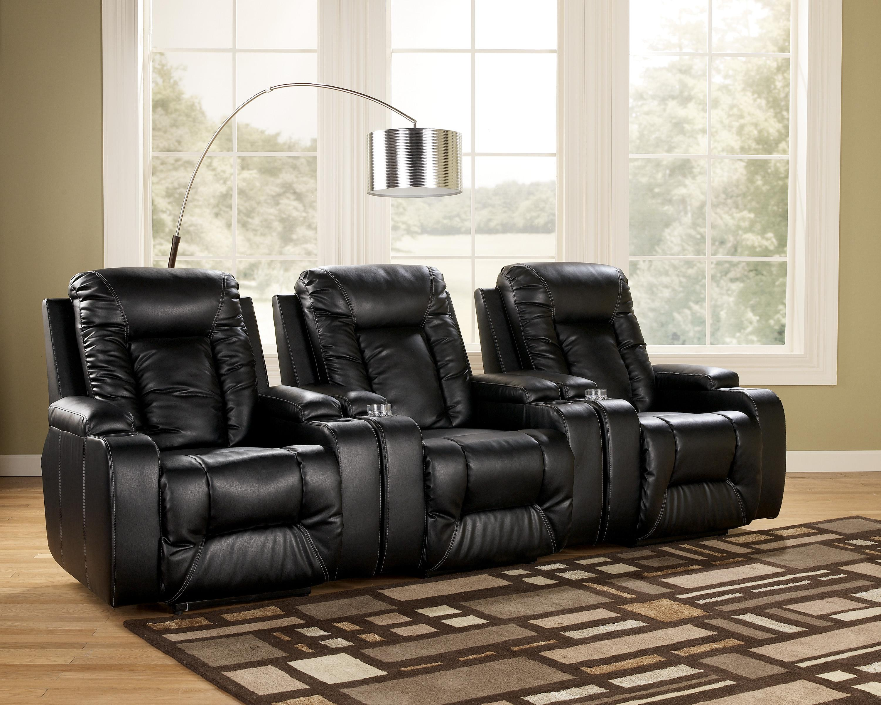 Signature Design by Ashley Matinee DuraBlend® - Eclipse 3 Piece Theater Seating Group - Item Number: 8740129x3