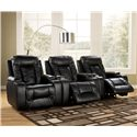 Signature Design by Ashley Matinee DuraBlend® - Eclipse Contemporary 3 Piece Theater Seating Group - Open