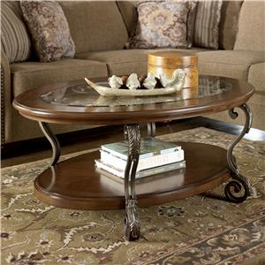 Ashley Signature Design Nestor Oval Cocktail Table