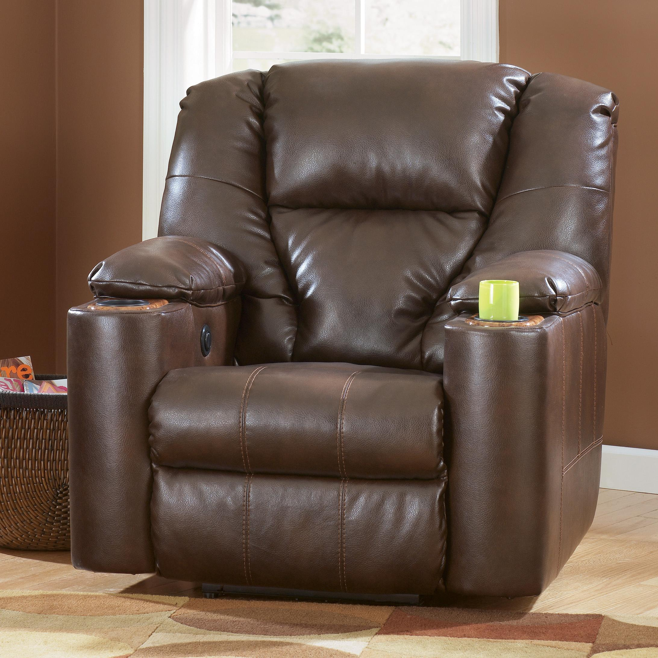 Signature Design by Ashley Paramount DuraBlend® - Brindle Power Recliner - Item Number: 7640106