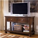 Signature Design by Ashley Porter Sofa Table/Media Console - Shown as Media Console with TV