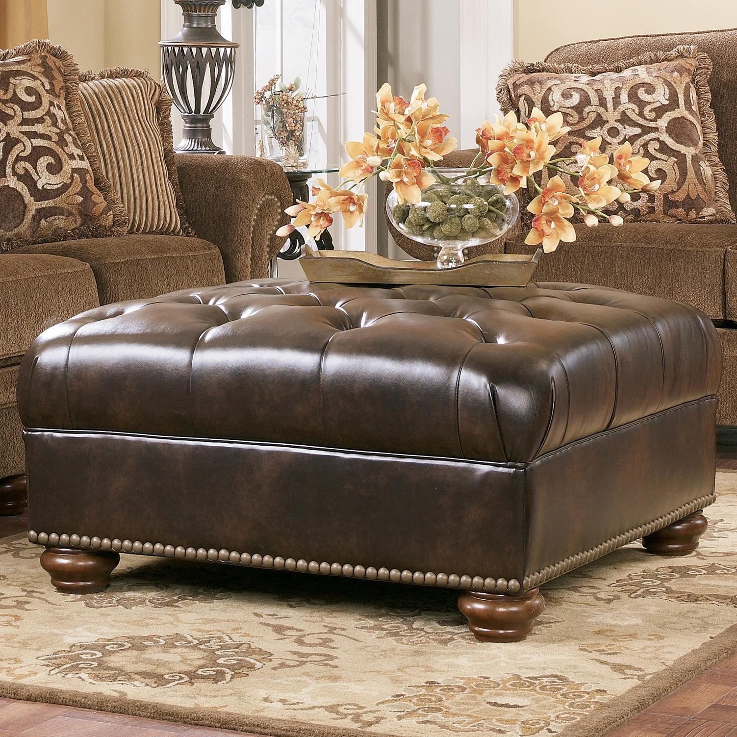 Signature Design by Ashley Presidio - Antique Oversized Accent Ottoman - Item Number: 7670008