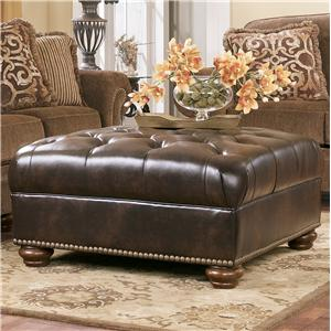 Signature Design by Ashley Presidio - Antique Oversized Accent Ottoman