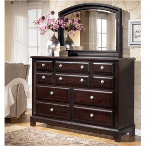 Signature Design by Ashley Ridgley Dresser & Mirror Combo