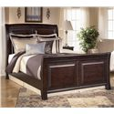 Ashley (Signature Design) Ridgley Queen Sleigh Bed - Item Number: B520-74+77+98