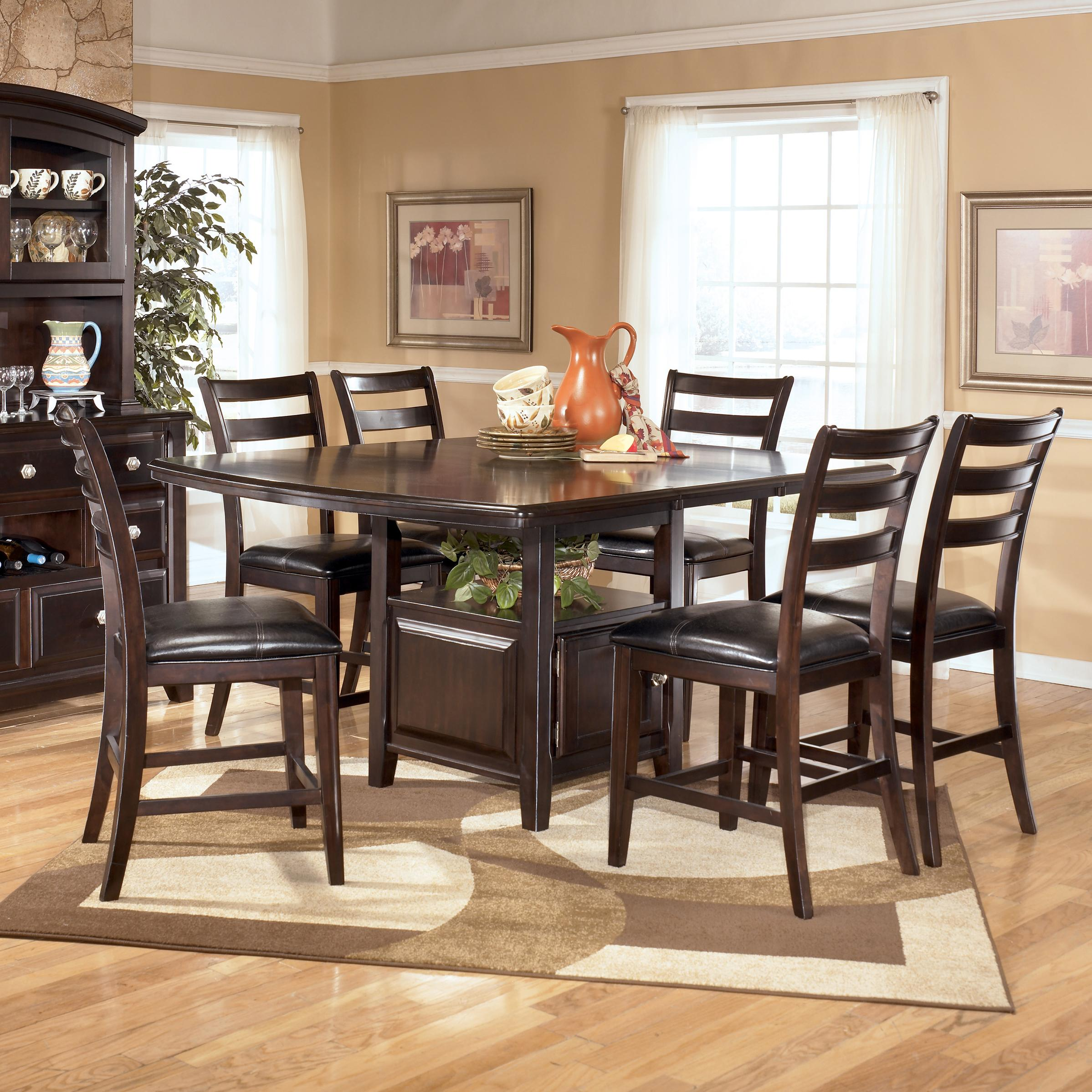 Signature Design by Ashley Ridgley 7 Piece Counter Height Table and Barstools Set - AHFA - Pub Table and Stool Set Dealer Locator & Signature Design by Ashley Ridgley 7 Piece Counter Height Table and ...