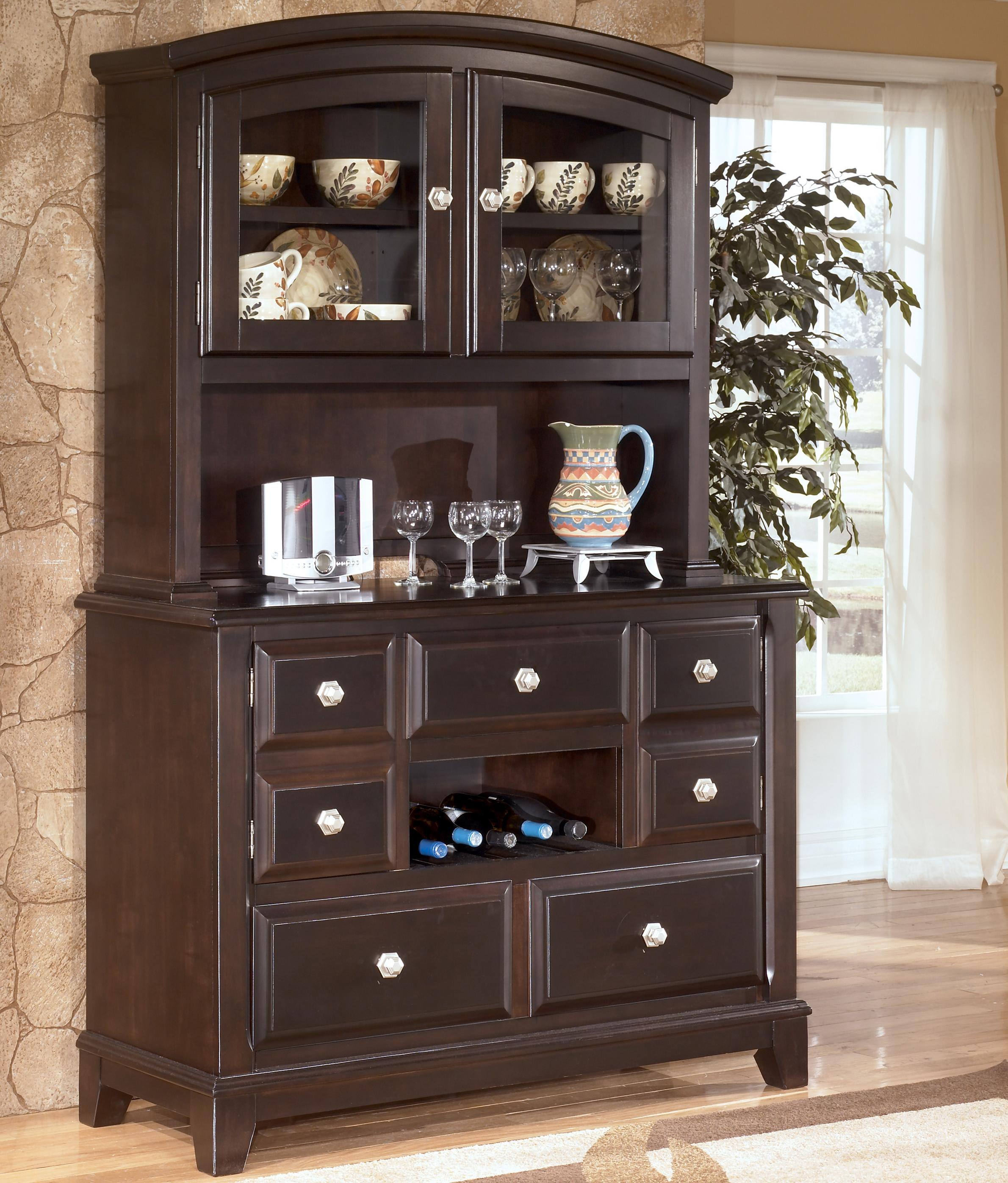furniture hooker hutch wood china palisade product zm cabinet cabinets casual dark