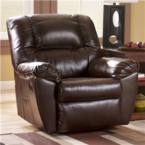 Signature Design by Ashley Rouge DuraBlend - Mahogany Recliner