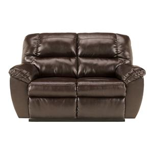 Signature Design by Ashley Rouge DuraBlend - Mahogany Reclining Loveseat