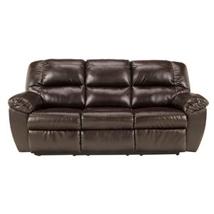 Signature Design by Ashley Rouge DuraBlend - Mahogany Reclining Sofa