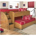 Signature Design by Ashley Stages Twin Loft Caster Bed - Shown with Loft Bed