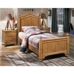 Signature Design by Ashley Stages Twin Poster Bed