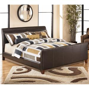 Signature Design by Ashley Stanwick King Faux Leather Upholstered Bed