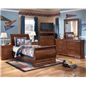 Signature Design by Ashley Wilmington Twin Louis Philippe Sleigh Bed