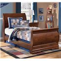 Signature Design by Ashley Wilmington Twin Sleigh Headboard (RTA) - Shown with Footboard and Rails