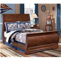 Signature Design by Ashley Wilmington Full Sleigh Bed - Item Number: B178-87+84+88