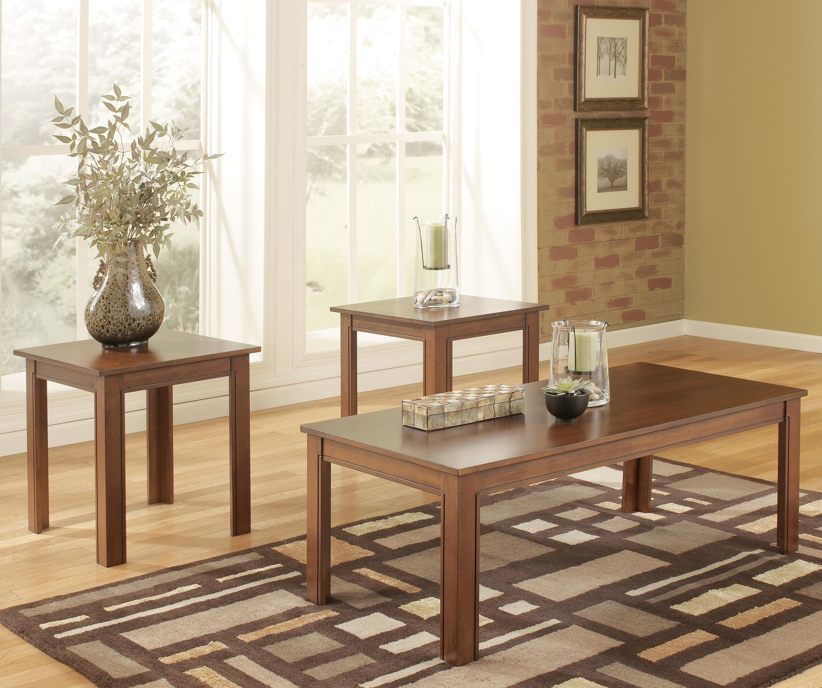 Signature Design by Ashley Yoshi 3 Piece Table Set - Item Number: T105-13