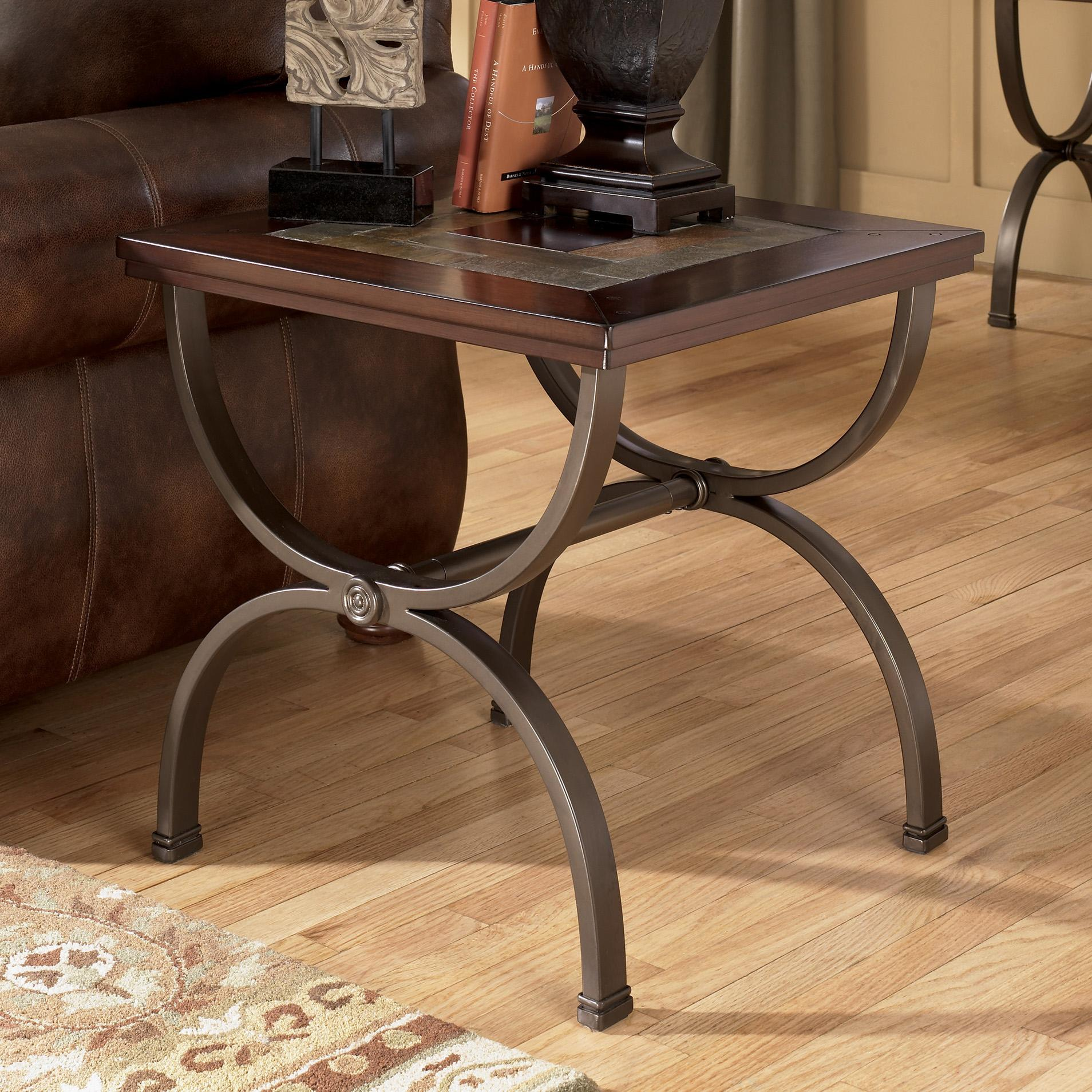 Signature Design by Ashley Zander Square End Table - Item Number: T415-2