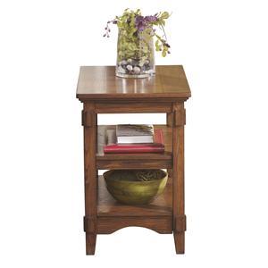 Trendz Cross Island Chairside End Table w/ Shelves