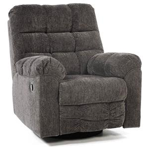 Signature Design By Ashley Addie Swivel Rocker Recliner With Quilted  Cushion Style | Rotmans | Three Way Recliners