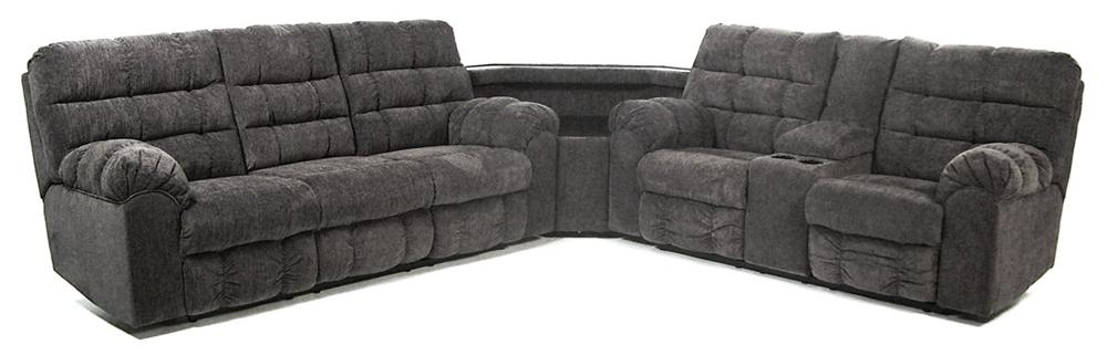 Signature Design by Ashley Addie Reclining Sectional with Right Side Loveseat - Item Number: 5830089+77+94