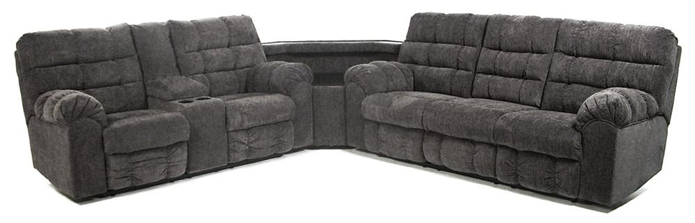 Signature Design by Ashley Addie Reclining Sectional with Left Side Loveseat - Item Number: 5830094+77+89