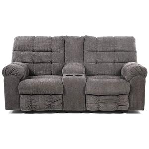 Signature Design by Ashley Addie Double Reclining Loveseat with Console