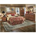 Signature Design by Ashley Pine Ridge 5 Piece Queen Bedroom Set - Item Number: 5 Piece Queen Bedroom Set