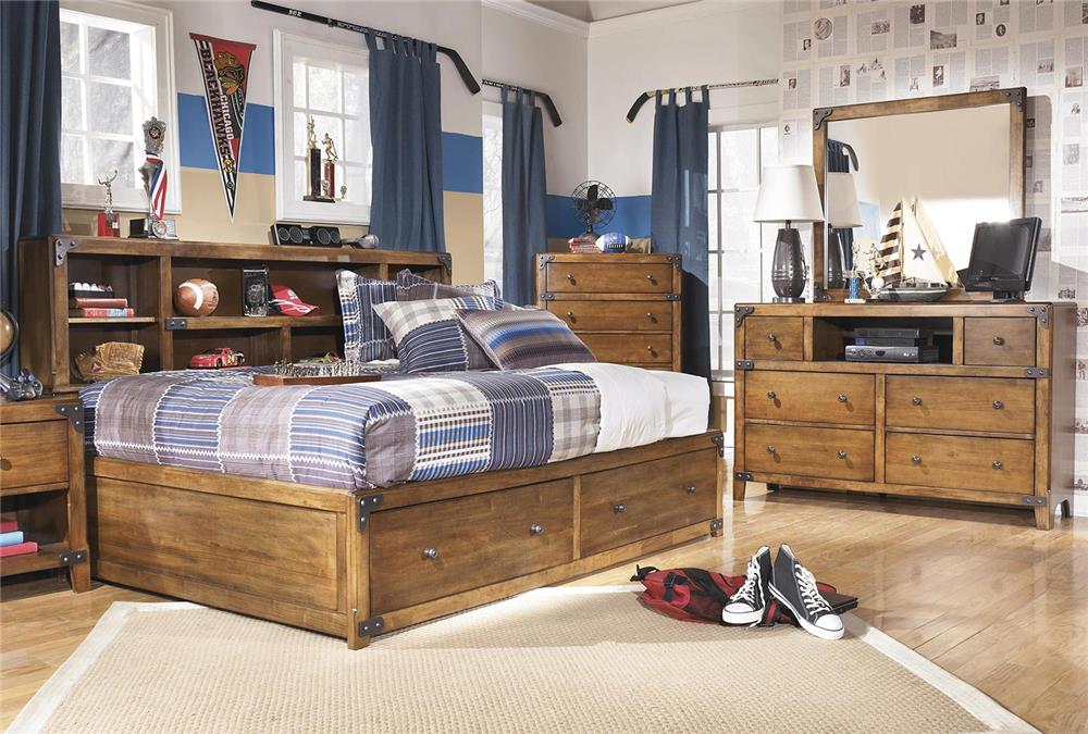 Signature Design by Ashley Cole 3-Piece Full Storage Bedroom Set - Item Number: B362-FSB+21+26
