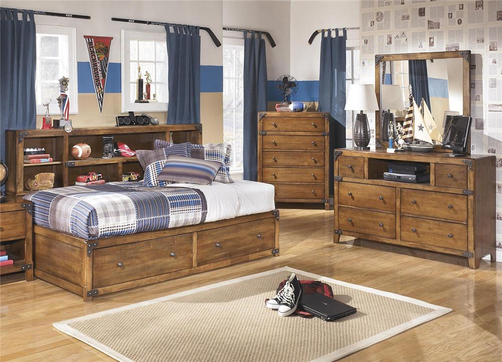 Signature Design by Ashley Cole 3-Piece Twin Storage Bedroom Set - Item Number: B362-TSB+21+26