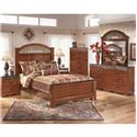 Signature Design by Ashley Brookfield 4 Piece Queen Bedroom Set - Item Number: B105-64-67-98-31-36-92