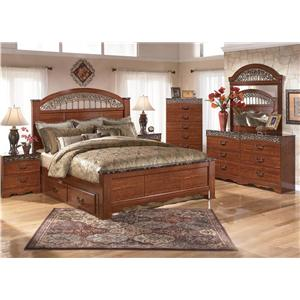 Signature Design by Ashley Brookfield 5pc Queen Storage Bed Set