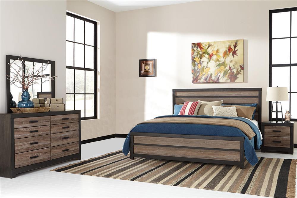Signature Design by Ashley Harrington 4-Piece King Bedroom Set - Item Number: B325-4PC-KBR