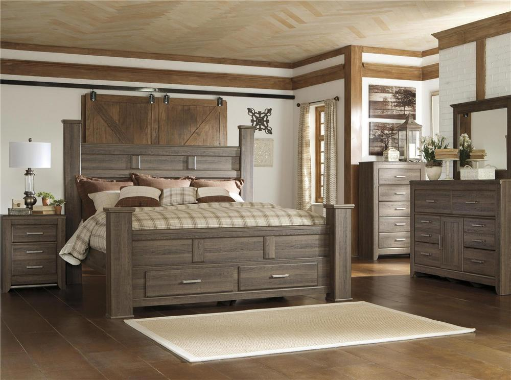 Signature Design by Ashley Sawyer 4pc King Storage Bedroom Set - Item Number: B251-KSB+31+36+92