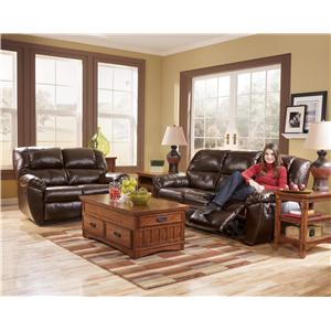 Signature Design by Ashley Furniture Rouge DuraBlend - Mahogany 8 Piece Living Room Group/Rouge Mahogany