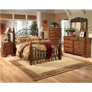 Signature Design by Ashley Furniture Wyatt Wyatt Queen Bed, Dresser & Mirror