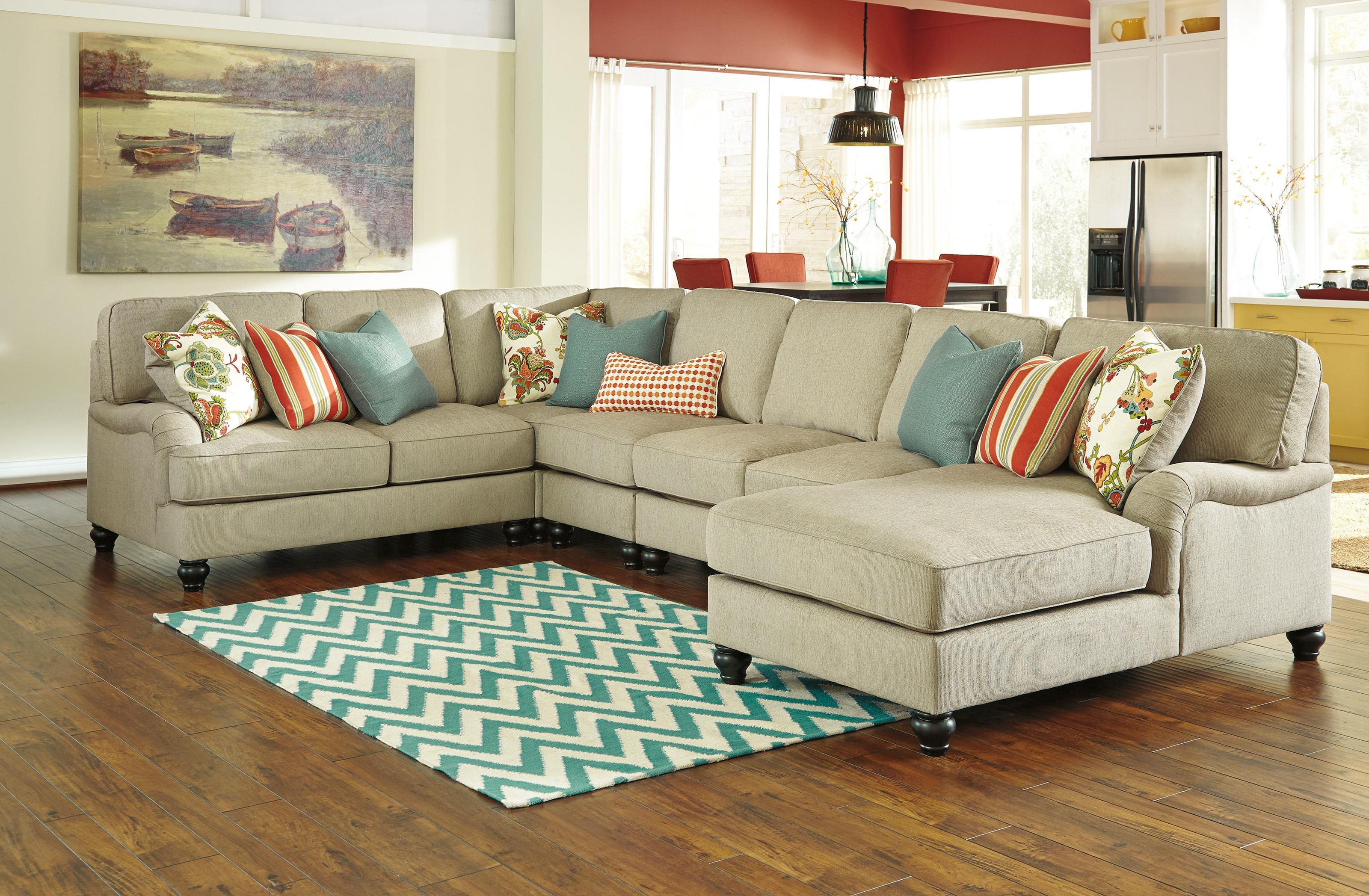 Signature Design by Ashley 2630077 4 Piece Chaise Sectional - Item Number: 5168598