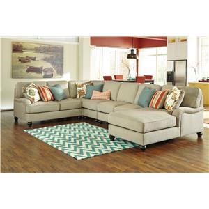 Signature Design By Ashley 2630077 4 Piece Chaise Sectional