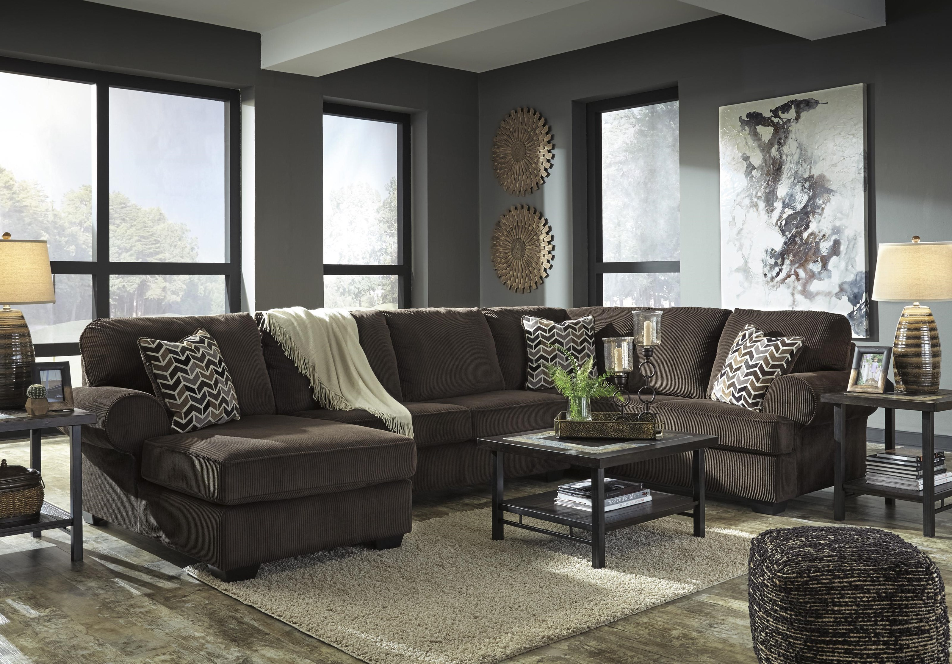 Jinllingsly 3 Piece Stationary Sectional by Signature Design by Ashley at Westrich Furniture & Appliances